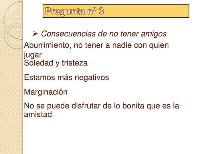 Pregunta nº 3