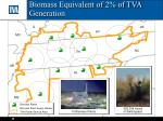biomass equivalent of 2 of tva generation
