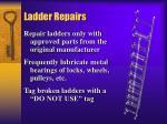 ladder repairs