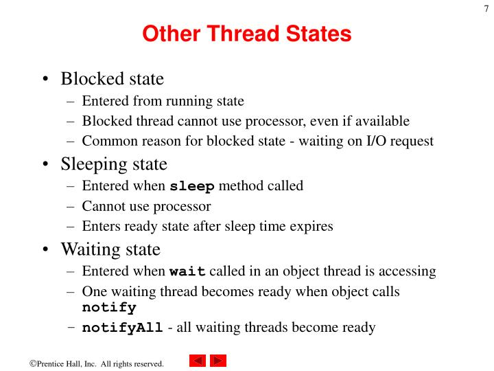 Other Thread States