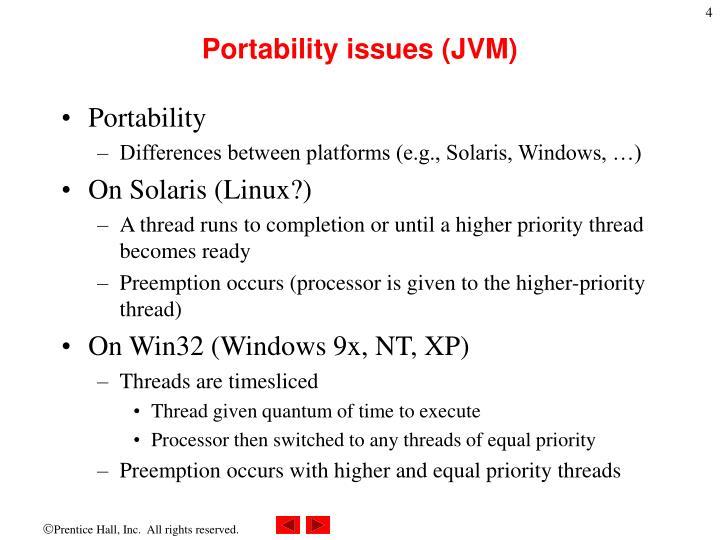 Portability issues (JVM)