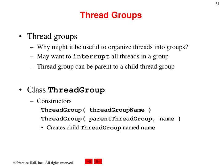 Thread Groups