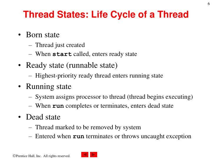 Thread States: Life Cycle of a Thread