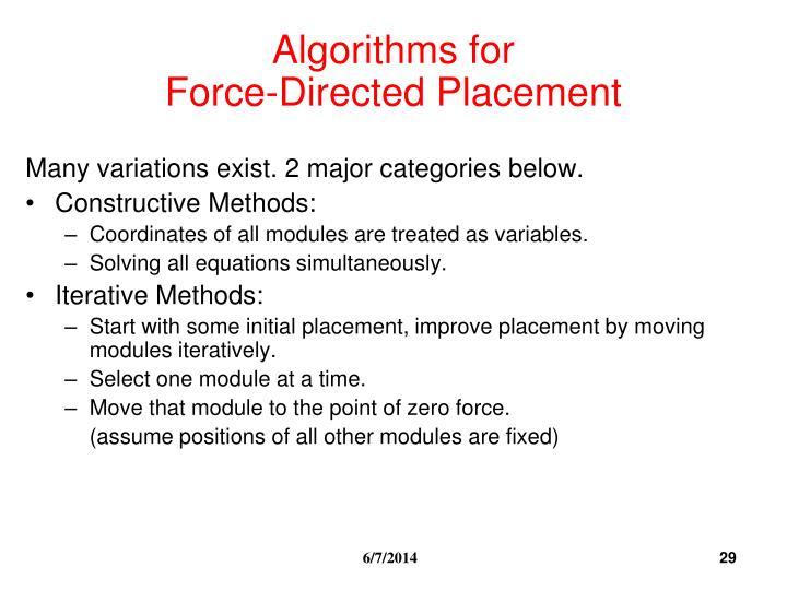 Algorithms for