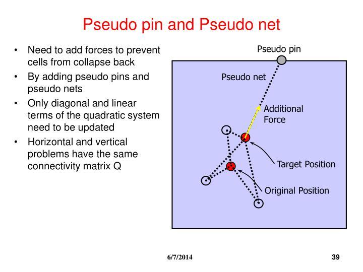 Pseudo pin and Pseudo net