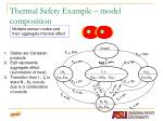 thermal safety example model composition