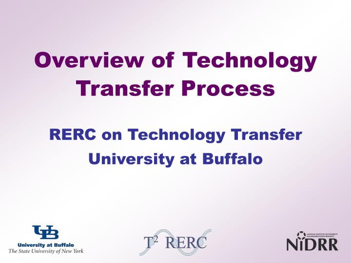 Overview of Technology Transfer Process