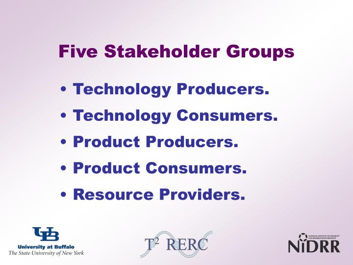 Five Stakeholder Groups