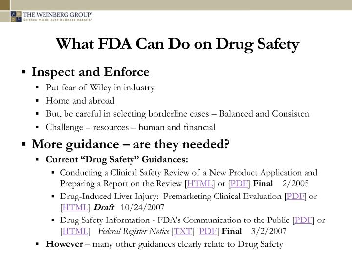 What FDA Can Do on Drug Safety