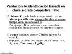 validaci n de identificaci n basada en clave secreta compartida fallo