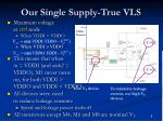 our single supply true vls1