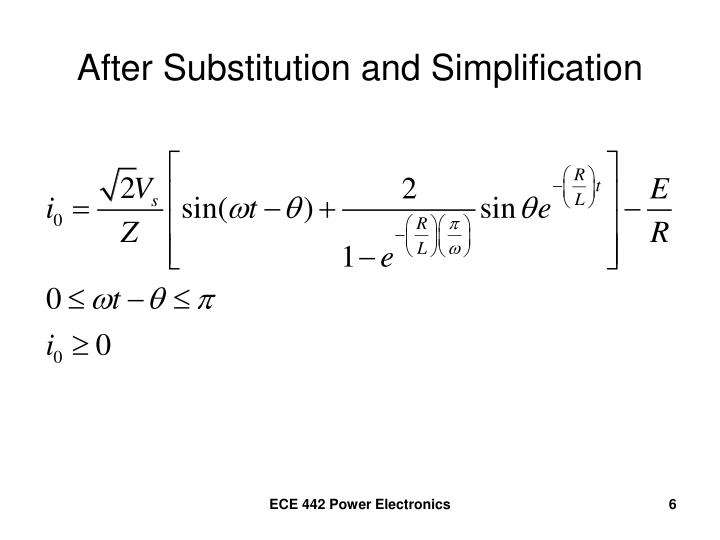 After Substitution and Simplification
