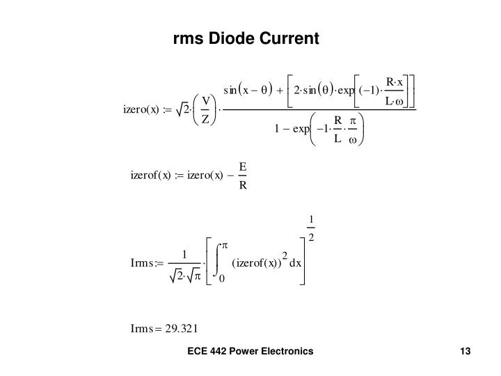 rms Diode Current