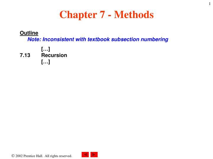 chapter 7 methods n.