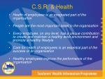 c s r health