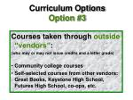 curriculum options option 3