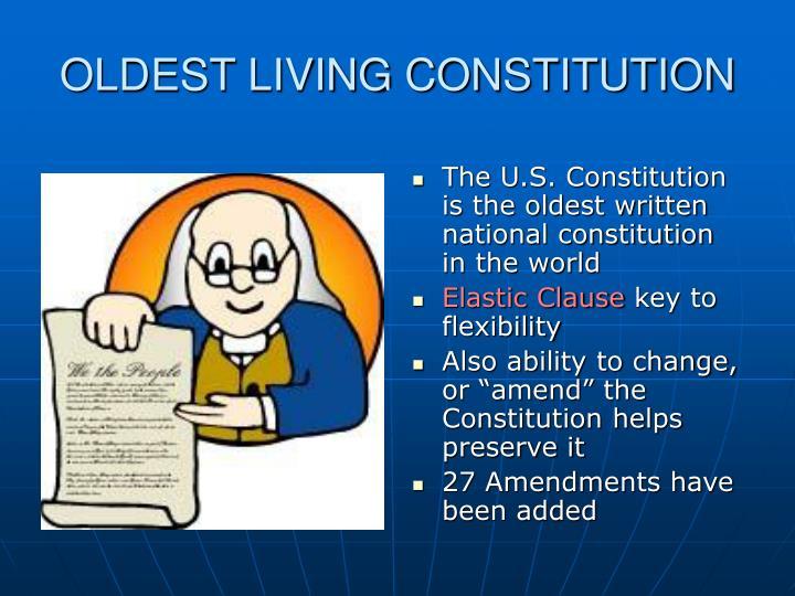 OLDEST LIVING CONSTITUTION