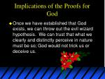 implications of the proofs for god