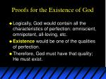 proofs for the existence of god1