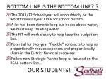 bottom line is the bottom line