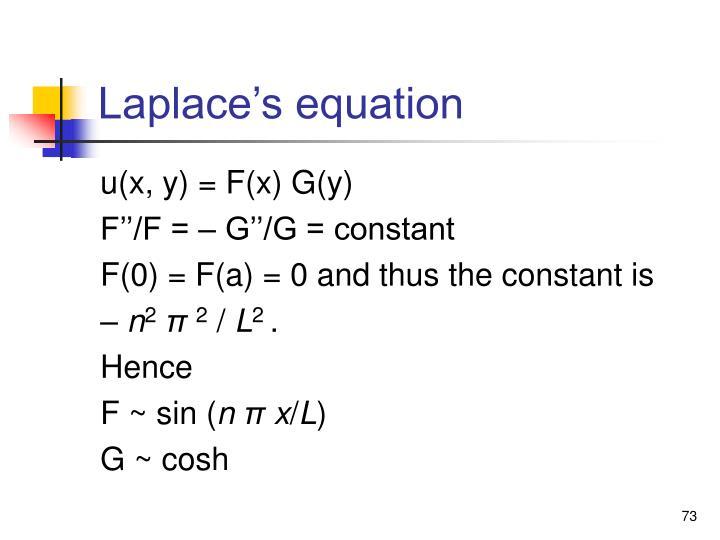 Laplace's equation