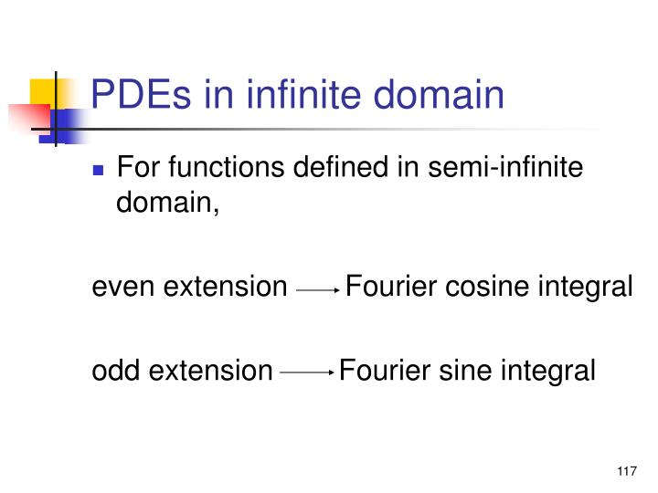 PDEs in infinite domain