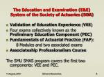 the education and examination e e system of the society of actuaries soa