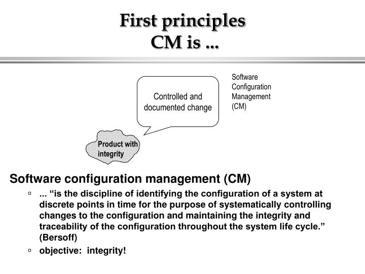First principles cm is
