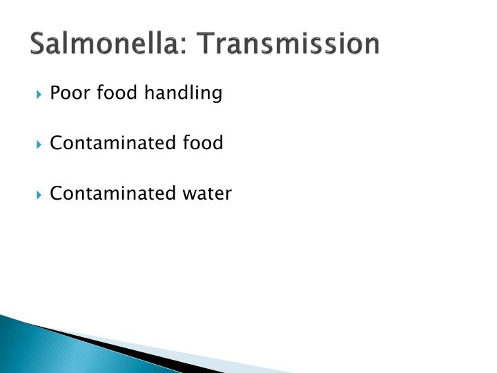 Salmonella: Transmission