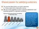 shared passion for satisfying customers