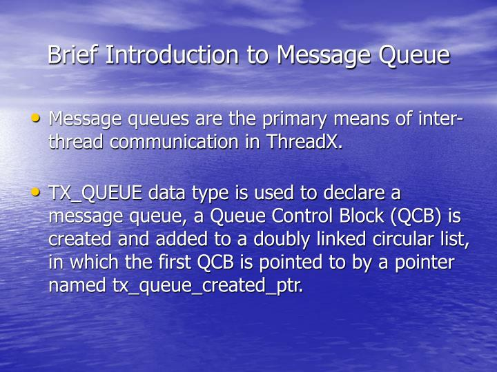 Brief introduction to message queue