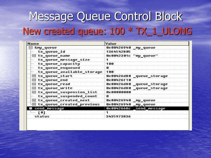 Message Queue Control Block