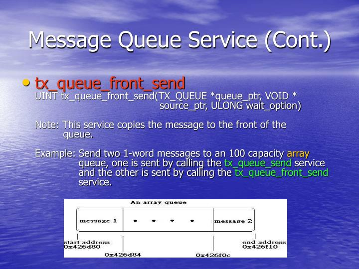 Message Queue Service (Cont.)