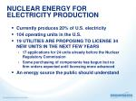 nuclear energy for electricity production1
