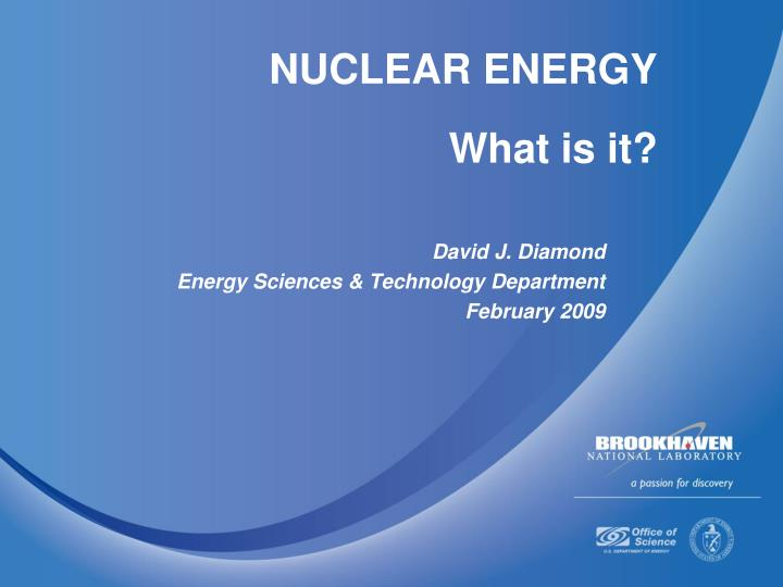 nuclear energy what is it n.