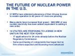 the future of nuclear power in the u s