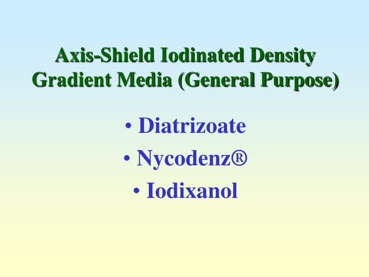 Axis shield iodinated density gradient media general purpose