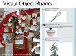 visual object sharing