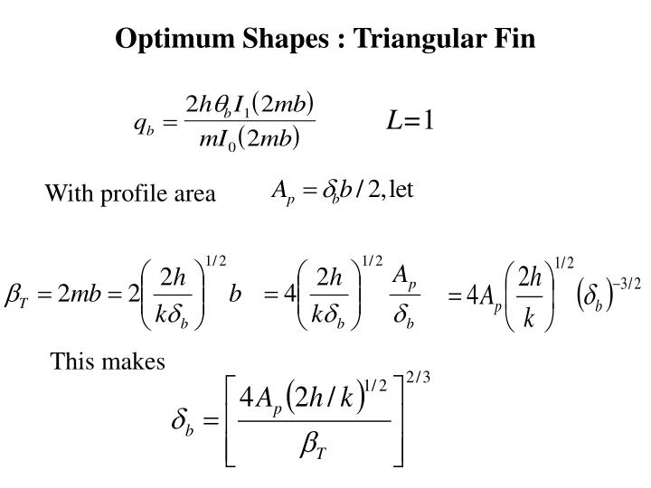 Optimum Shapes : Triangular Fin