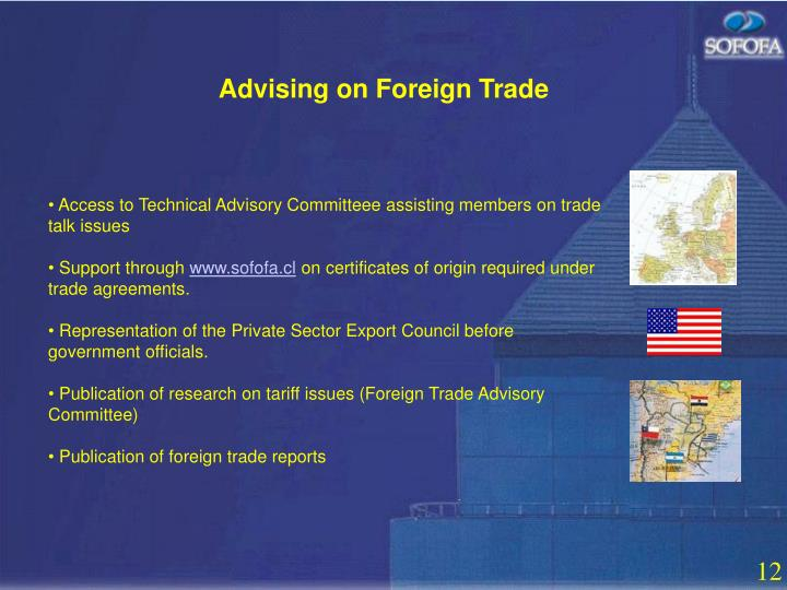 Advising on Foreign Trade