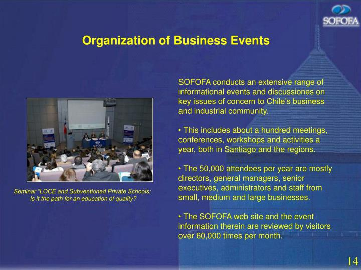 Organization of Business Events