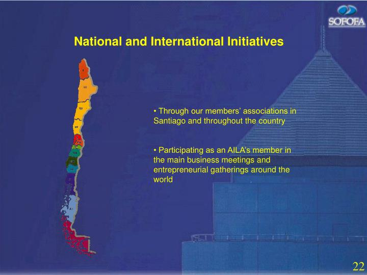 National and International Initiatives