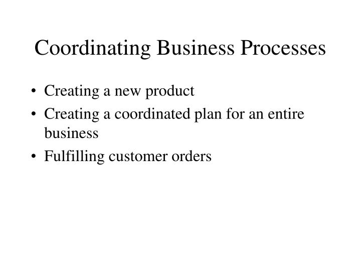 Coordinating Business Processes