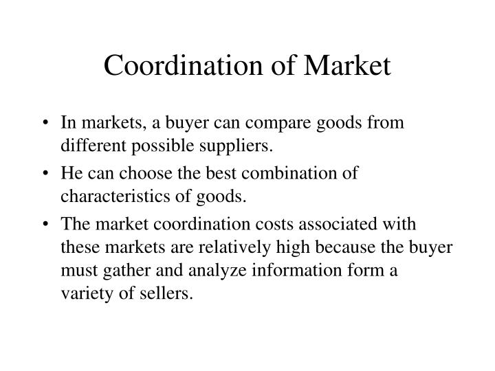 Coordination of Market