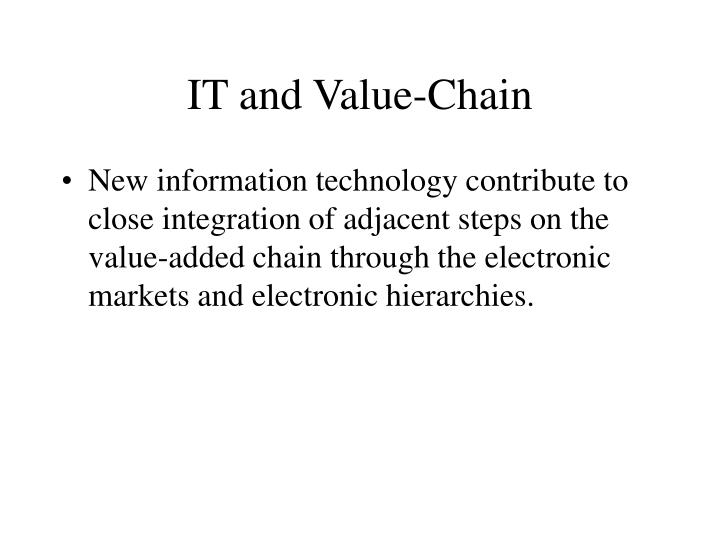 IT and Value-Chain