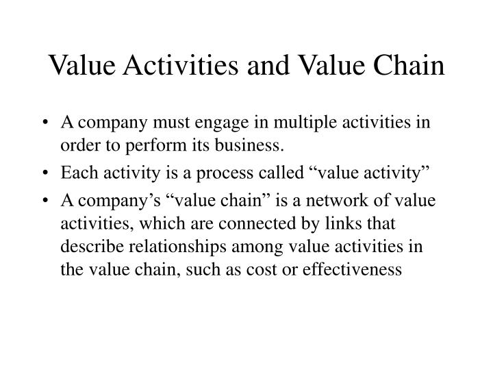 Value Activities and Value Chain