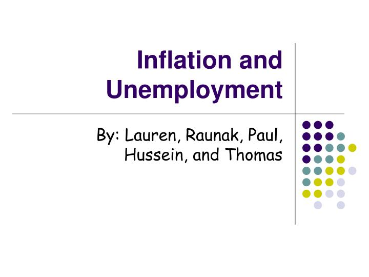 inflation and unemployment n.