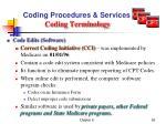 coding procedures services coding terminology4