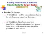coding procedures services introduction to the surgery section 10040 6997910
