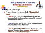 coding procedures services pathology laboratory 80000 899992